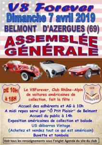 07-04-2019 : Assemblée Générale du V8 à BELMONT D'AZERGUES (69)
