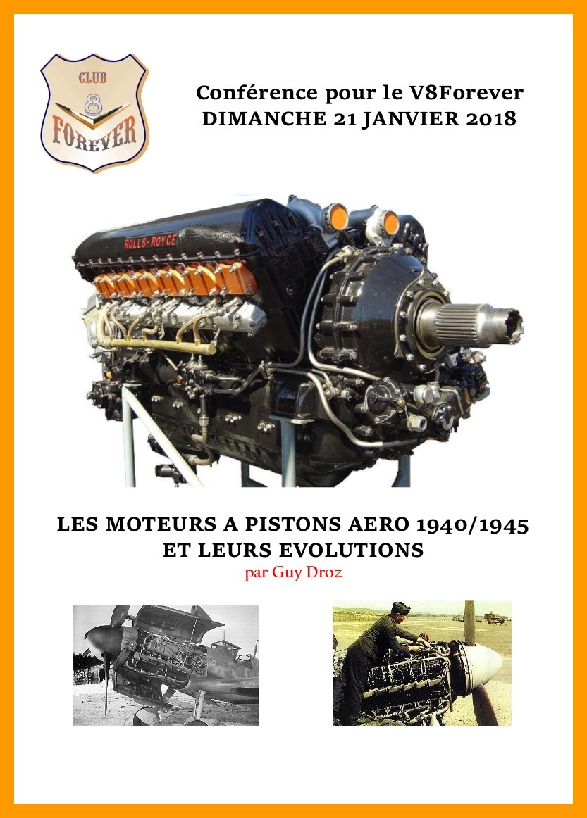 Conférence sur les moteurs à pistons aéro de 1940 à 1945 par Guy DROZ à BRON (69) @ Fort de BRON à BRON (69) | Bron | Auvergne-Rhône-Alpes | France